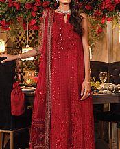 Scarlet Red Chiffon Suit- Pakistani Designer Chiffon Suit