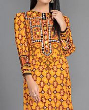 Mustard Khaddar Kurti- Pakistani Winter Dress