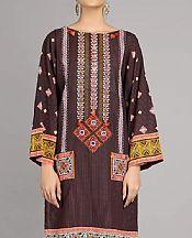 Black/Rust Khaddar Kurti- Pakistani Winter Dress