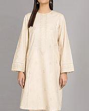 Ivory Khaddar Kurti- Pakistani Winter Clothing