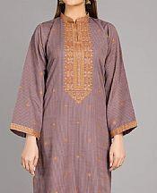 Mauve Khaddar Kurti- Pakistani Winter Dress