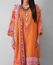 Orange Khaddar Suit- Pakistani Winter Clothing