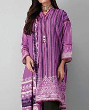 Purple Khaddar Suit- Pakistani Winter Dress