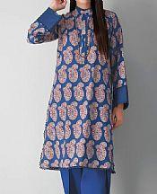 Blue Cambric Suit (2 Pcs)- Pakistani Winter Dress