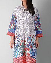 White/Red Khaddar Suit (2 Pcs)- Pakistani Winter Clothing