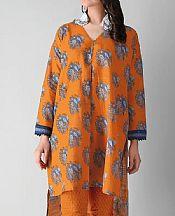 Orange Khaddar Suit (2 Pcs)- Pakistani Winter Dress