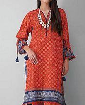 Bright Orange Khaddar Suit (2 Pcs)- Pakistani Winter Clothing