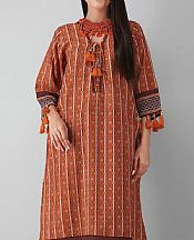 Rust Khaddar Suit (2 Pcs)- Pakistani Winter Dress