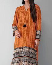 Safety Orange Khaddar Suit (2 Pcs)- Pakistani Winter Dress