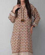 Coffee Brown Khaddar Suit (2 Pcs)- Pakistani Winter Clothing