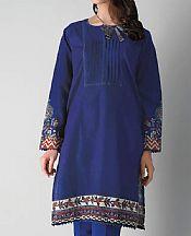 Navy Blue Khaddar Suit (2 Pcs)- Pakistani Winter Dress