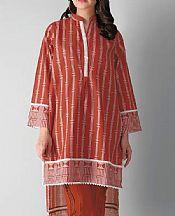 Rust Khaddar Suit (2 Pcs)- Pakistani Winter Clothing