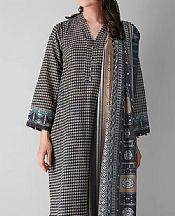 Black Khaddar Suit (2 Pcs)- Pakistani Winter Clothing
