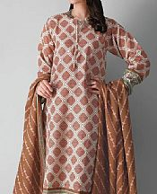 Brown Khaddar Suit (2 Pcs)- Pakistani Winter Clothing