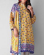 Yellow Khaddar Suit (2 Pcs)- Pakistani Winter Dress
