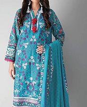 Turquoise Khaddar Suit (2 Pcs)- Pakistani Winter Dress
