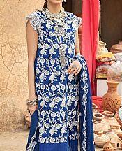 Royal Blue Chiffon Suit- Pakistani Designer Chiffon Suit