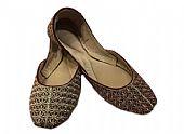 Ladies Khussa- Maroon/Golden- Pakistani Khussa Shoes