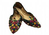 Ladies Khussa- Teal- Pakistani Khussa Shoes