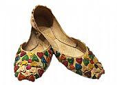 Ladies Khussa- Beige- Khussa Shoes for Women