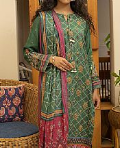 Forest Green Linen Suit- Pakistani Winter Clothing