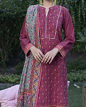 Plum Khaddar Suit- Pakistani Winter Dress