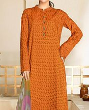 Safety Orange Cambric Suit- Pakistani Winter Clothing