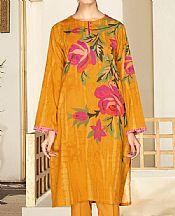 Mustard Cambric Suit (2 Pcs)- Pakistani Winter Dress
