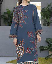 Denim Blue Cambric Suit (2 Pcs)- Pakistani Winter Clothing