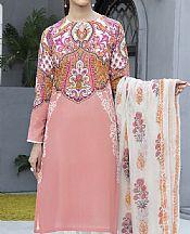 Tea Pink Cambric Suit (2 Pcs)- Pakistani Winter Dress