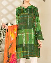 Forest Green Cambric Suit (2 Pcs)- Pakistani Winter Clothing