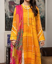 Orange Cambric Suit (2 Pcs)- Pakistani Winter Dress
