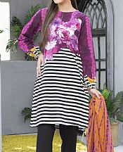 Plum Cambric Suit (2 Pcs)- Pakistani Winter Dress