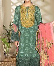 Viridian Green Cambric Suit (2 Pcs)- Pakistani Winter Clothing