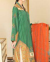 Emerald Green Cambric Suit (2 Pcs)- Pakistani Winter Clothing