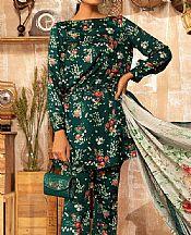 Brunswick Green Linen Suit- Pakistani Winter Clothing