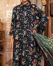 Navy Blue Linen Suit- Pakistani Winter Dress