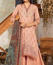 Peach Karandi Suit- Pakistani Winter Clothing