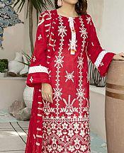 Scarlet Lawn Suit- Pakistani Designer Lawn Dress