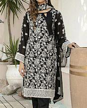 Black Swiss Voil Suit- Pakistani Lawn Dress