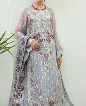 Slate Grey Organza Suit- Pakistani Chiffon Dress