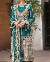 Teal Crinkle Chiffon Suit- Pakistani Chiffon Dress