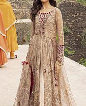 Tan Crinkle Chiffon Suit- Pakistani Chiffon Dress