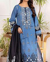 Cornflower Blue Lawn Suit- Pakistani Lawn Dress