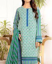 Green Lawn Suit- Pakistani Designer Lawn Dress