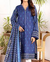 Dark Blue Lawn Suit (2 Pcs)- Pakistani Lawn Dress