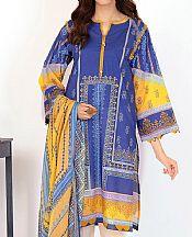 Royal Blue Lawn Suit (2 Pcs)- Pakistani Designer Lawn Dress