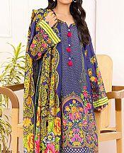 Iris Purple Lawn Suit- Pakistani Lawn Dress