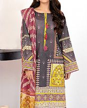 Dark Grey Lawn Suit (2 Pcs)- Pakistani Lawn Dress