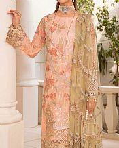 Peach Chiffon Suit- Pakistani Designer Chiffon Suit